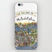 We Belong in Philadelphia! iPhone & iPod Skin