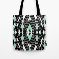 Art Deco Zoom Mint Tote Bag