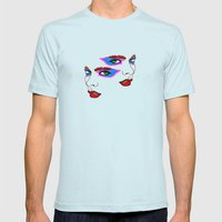 Two Sides Mens Fitted Tee Light Blue SMALL