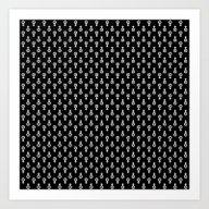 Uranus Noir Pattern Art Print