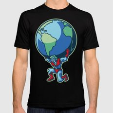 The Weight of the World Black SMALL Mens Fitted Tee