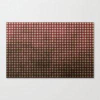 Royal Scarlet - Textured… Canvas Print