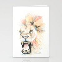 Savage Lion Stationery Cards