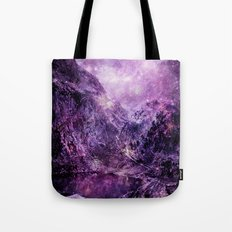 Galaxy Space Mountains Tote Bag
