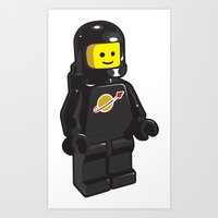 Vintage Lego Black Space… Art Print