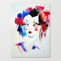 Water Color Sketch Canvas Print