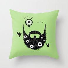 Make Beards Not War! Throw Pillow