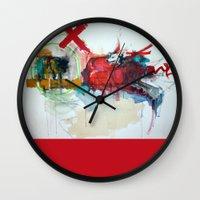 NYC Wolves pillow Wall Clock