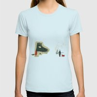 The seven little goats Womens Fitted Tee Light Blue SMALL