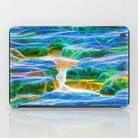 Abstract rock pool in the rough rocks in Queensland iPad Case