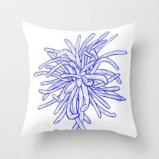 Blue Flower Throw Pillow