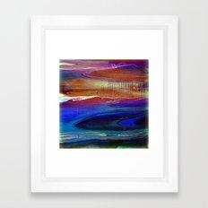 Dusk at the Beach Framed Art Print