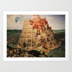 The Tower of Babel by Pieter Bruegel the Elder  Art Print