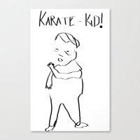 Karate Comic Canvas Print