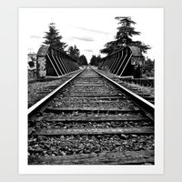 Art Print featuring Railway bridge by Vorona Photography