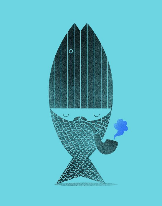 Fisherman No.2 Art Print
