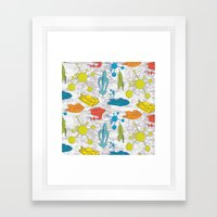 Atoms And Spaceships Framed Art Print