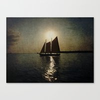 Sailing at twilight Canvas Print