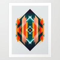 Broken Diamond - Incales… Art Print