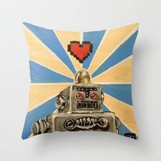 8 Bit Love Machine Throw Pillow
