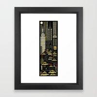 New York (Vertical) Framed Art Print