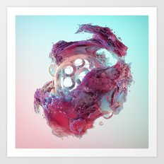 Glower Art Print