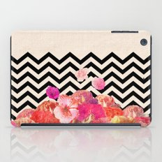 Chevron Flora II iPad Case