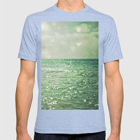 Sea Of Happiness Mens Fitted Tee Tri-Blue SMALL