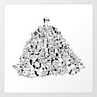 Pupper Pile Art Print