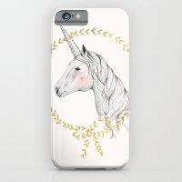 unicorn iPhone & iPod Cases featuring Unicorn by Kelli Murray