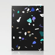 Painted Terrazzo 2 Stationery Cards