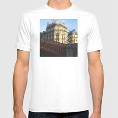 A little bit of Paris White Mens Fitted Tee SMALL