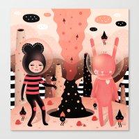 The magical mountain we shared - Muxxi X Paul Pierrot Canvas Print