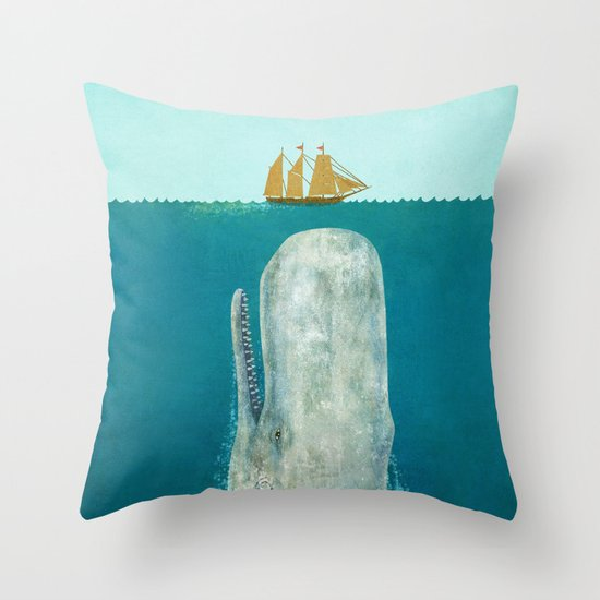 The Whale - square format Throw Pillow