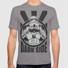 Dark Side Trooper  Mens Fitted Tee Tri-Grey SMALL