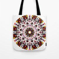 Donkey Flower Kaleidoscope  Tote Bag