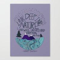 Einstein: Nature II Canvas Print