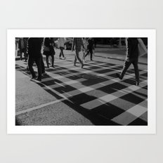 Crosswalk Shadows - Solarized Art Print