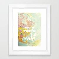 What a Wonderful World Framed Art Print