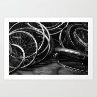 Detroit Bikes Art Print