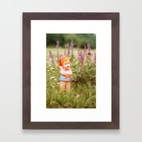 Girl with duck Framed Art Print