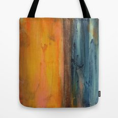 Blue and Orange - Textured Abstract Tote Bag