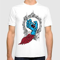 screaming hand Klevra   Mens Fitted Tee White SMALL