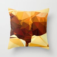 Syncerus Caffer Throw Pillow