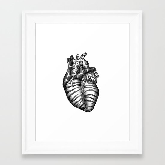Heart gone wild Framed Art Print