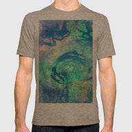 Psychedelic Swirls Mens Fitted Tee Tri-Coffee SMALL