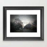 Strangers on the wall Framed Art Print
