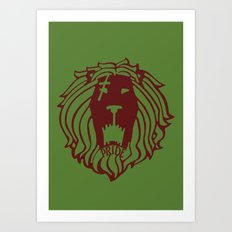 The Lion's Sin of Pride Art Print