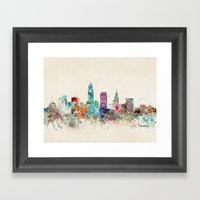 cleveland ohio Framed Art Print
