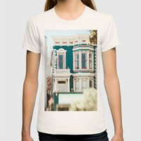 Be Colorful Womens Fitted Tee Natural SMALL